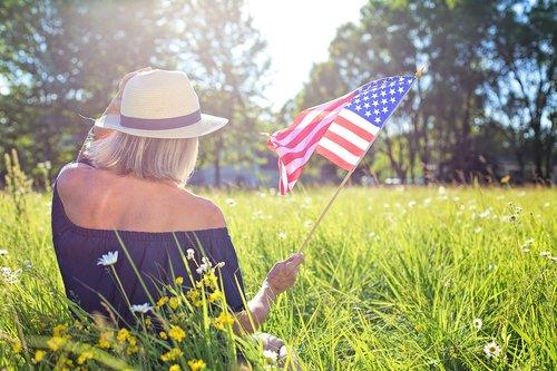 fourth of july  waving flag  american flag