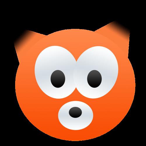 fox orange black