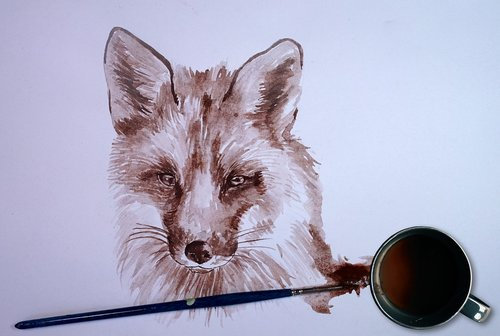 fox  coffee  paint