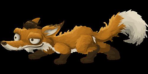 fox animal cartoon