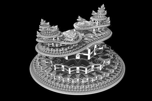 fractal symmetry 3d