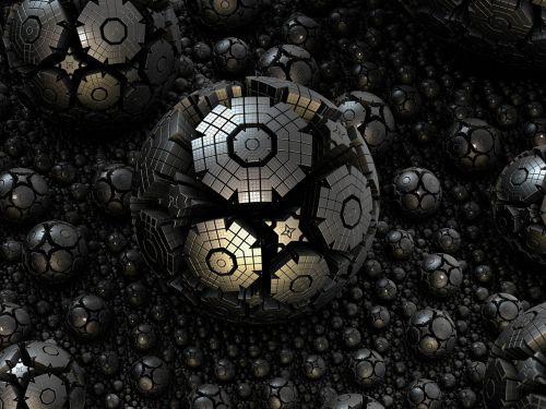 fractal sphere steel