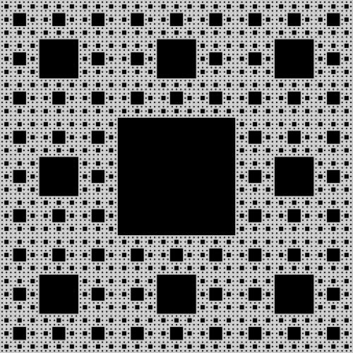 fractal sierpinski-carpet self-similar