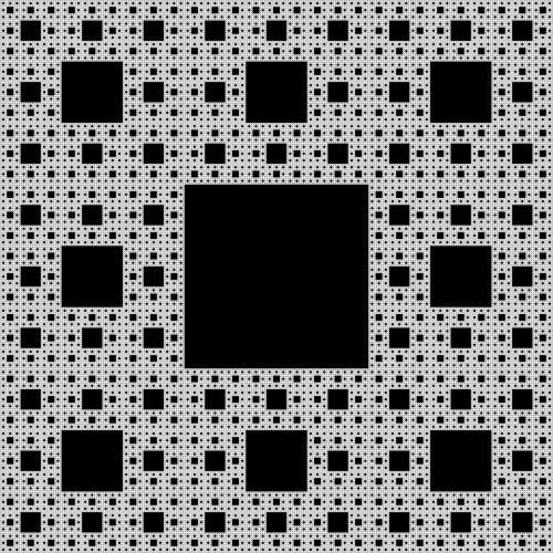 fractal sierpinski-carpet self-similar