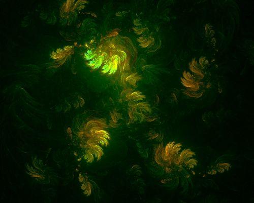 fraktalas,šviesa,šviesos fraktalas,augalai,gėlės,fono tekstūra,skaitmeninis