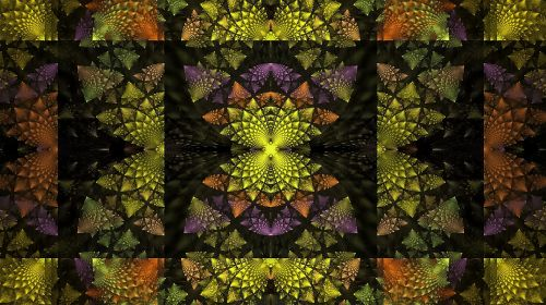 fractal multi-color geometry