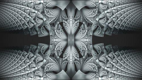 fractal blue lace
