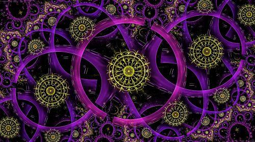 fractal neon rings