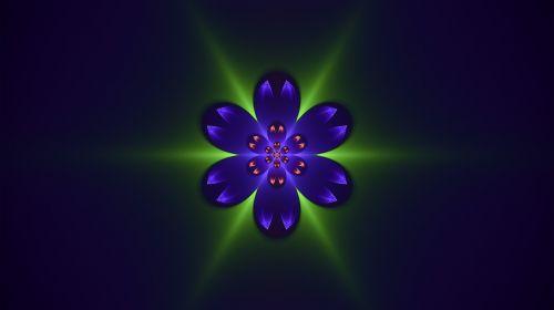fractal blue green