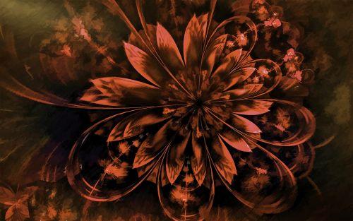 fractal painting flower