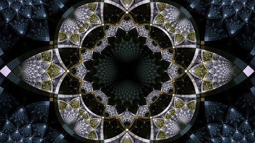 fractal aqua silver