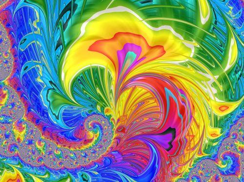 fractal bright exploding