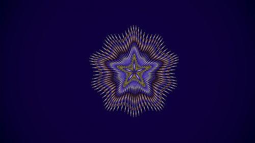 fractal star mandala