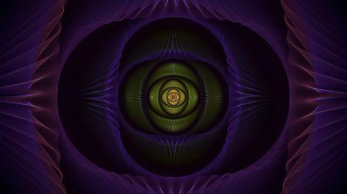 fractal blue eye