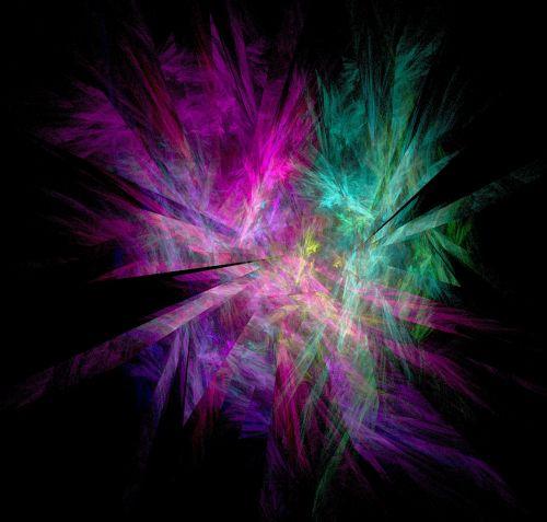 fractal pink cyan