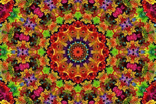 fractal mandala flowers