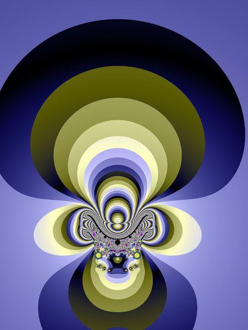 fractal blue fantasy