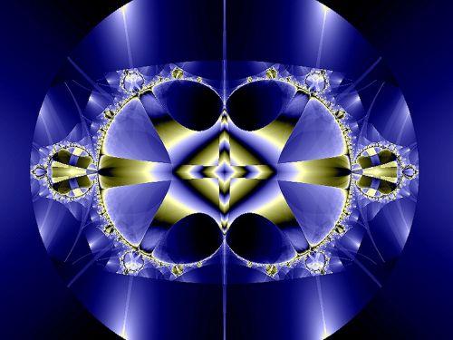 fractal fantasy blue