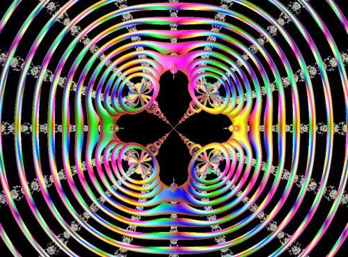 fractal circles multi colored