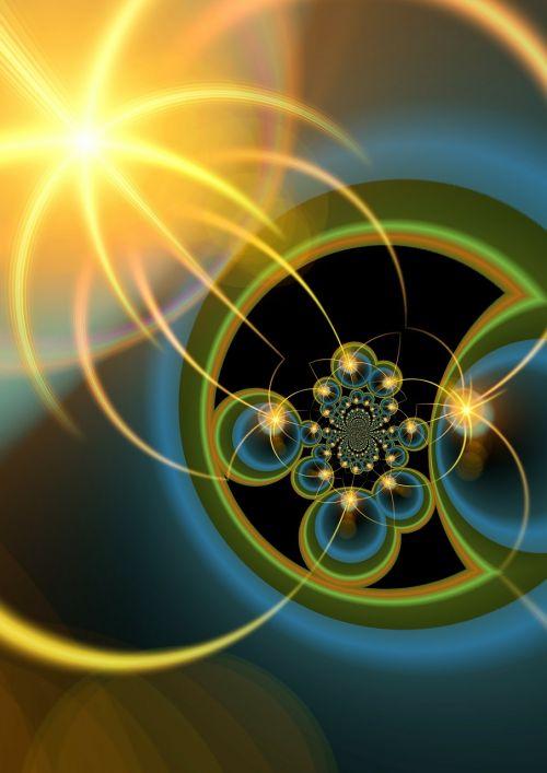 fractal sun rays