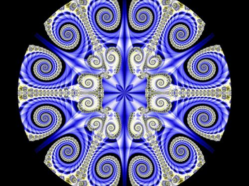 fractal blue coils