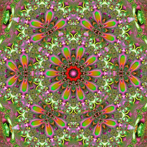 fractal image tile background