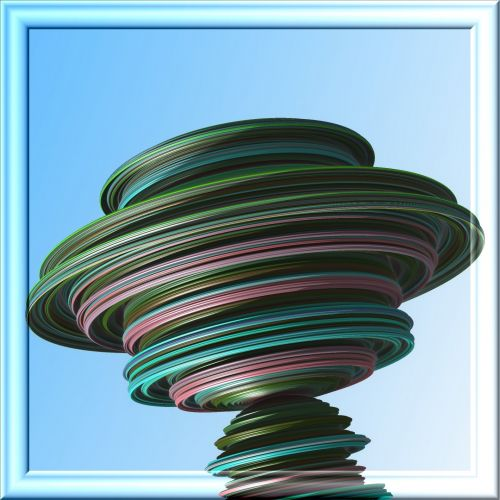 Fractal Spinning Top