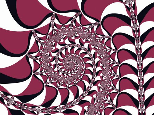 Fractal Spiral Striped