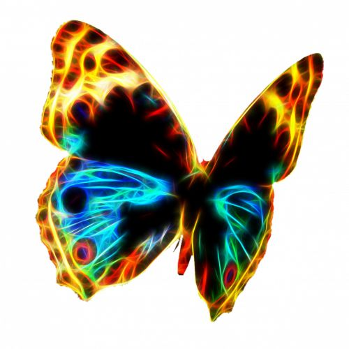 Fractal Wire Flame Butterfly