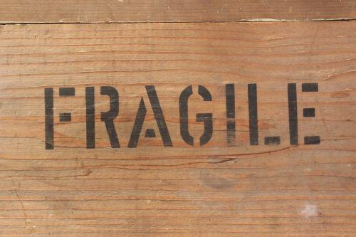 fragile text wood