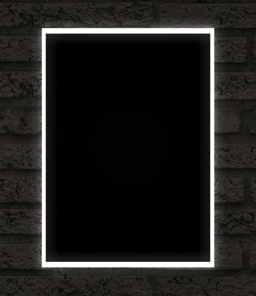frame black neon