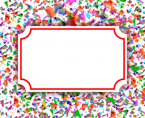 frame banner postcard