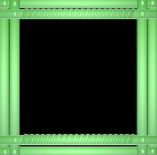 frame border green