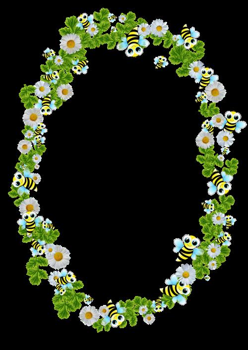frame bees daisy