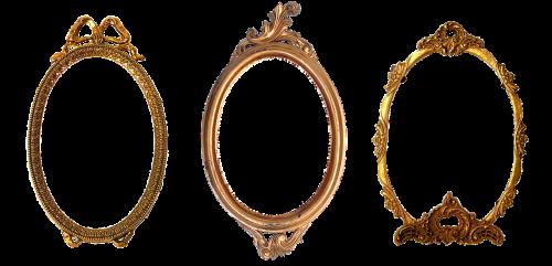 frame oval carved