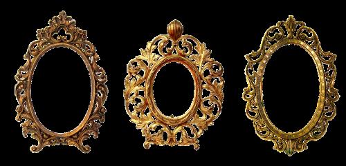 frame oval wooden frame
