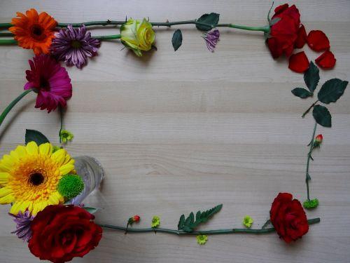 frame border flower