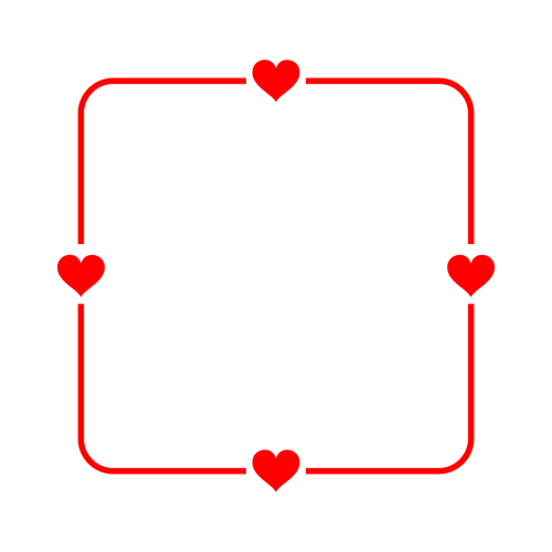 frame heart red