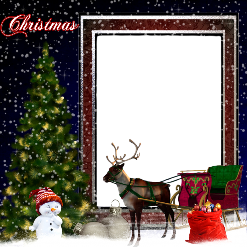frame picture christmas