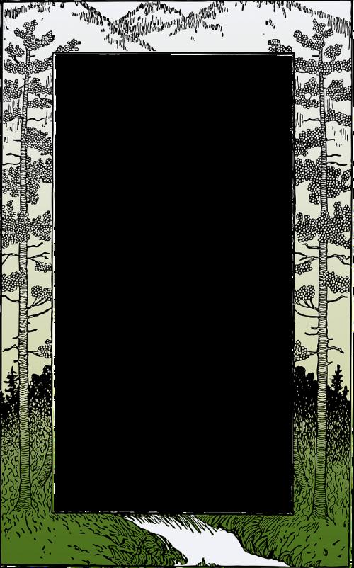 frame border mountain