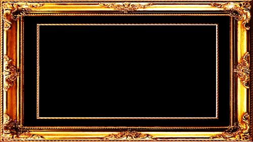 frame gold border