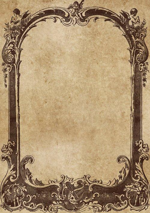 frame  antique  victorian