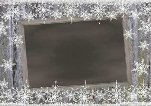 frame board snowflakes