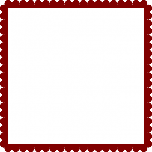frame lacy red