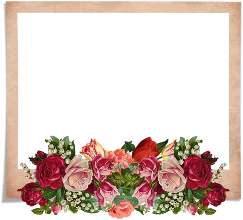 frame rose vintage bouquet
