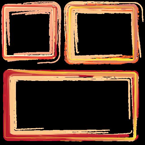 frames borders orange frame