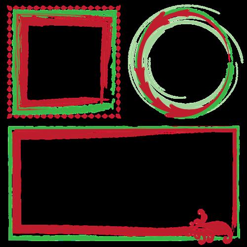 frames borders christmas frames