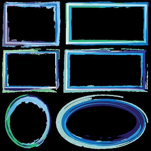 frames borders watercolor frames