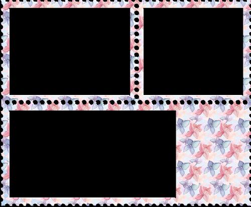 frames pink flowers