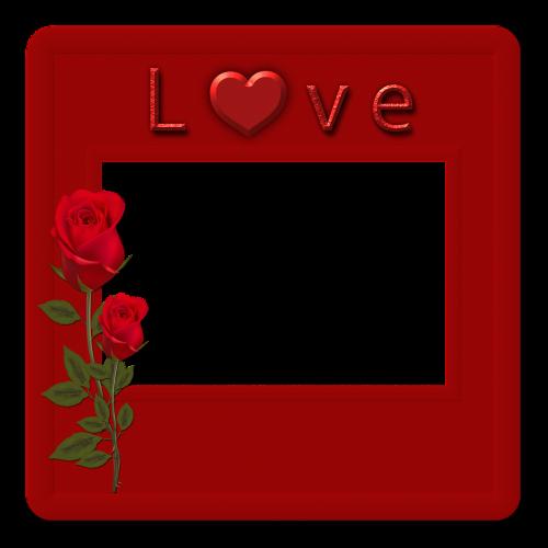 framework frame photo red